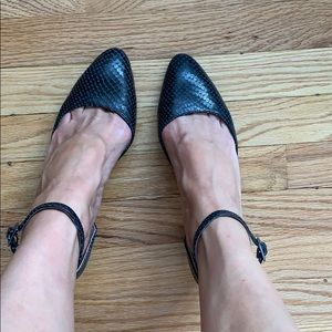 Franco Sarto wedge block heel pumps